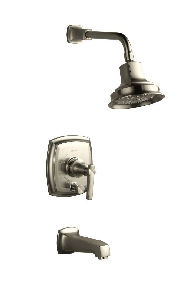 Garniture de robinet pour bain et douche de la collection Margaux(R) Rite-temp(R), avec poignée à...