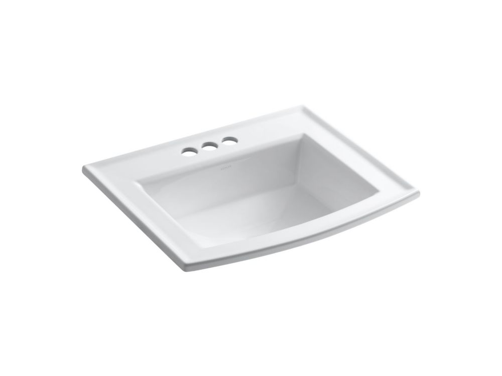 Archer Self-Rimming Lavatory in White