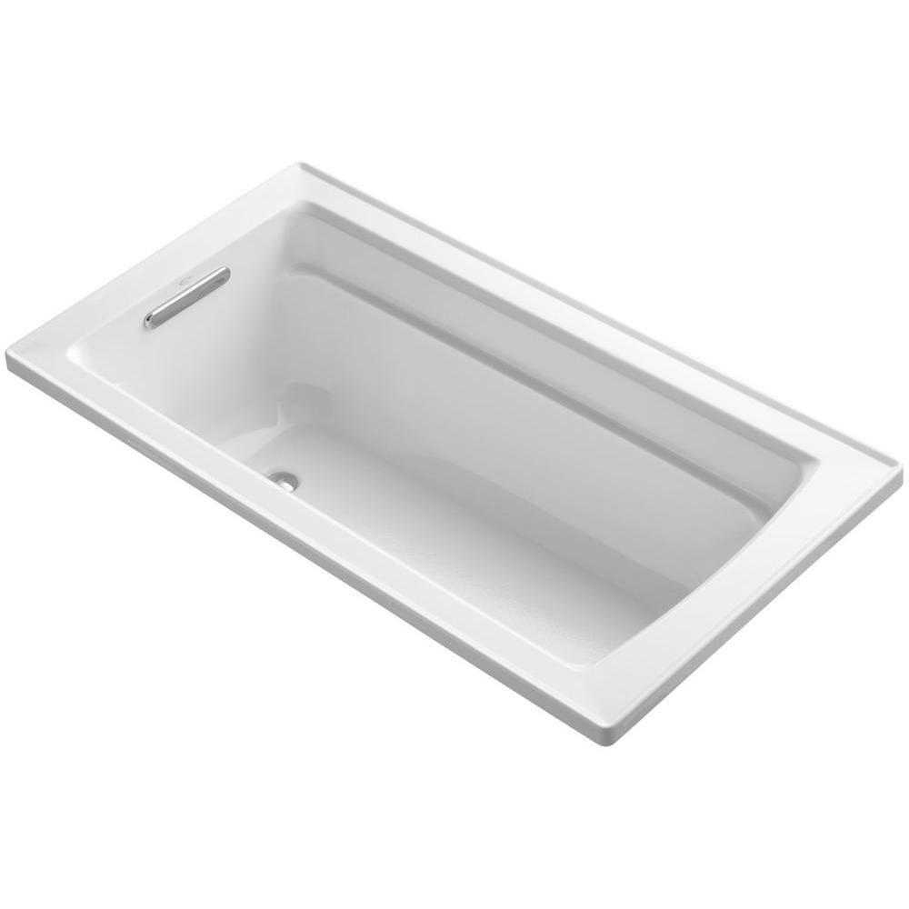 KOHLER Archer 5 ft. Reversible Drain Acrylic Soaking Tub in White