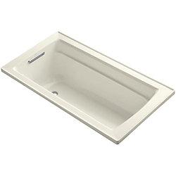 "KOHLER Archer(R) 60"" x 32"" drop-in bath with reversible drain"