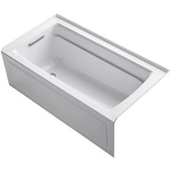 "KOHLER Archer(R) 60"" x 32"" alcove bath with integral apron, integral flange and left-hand drain"
