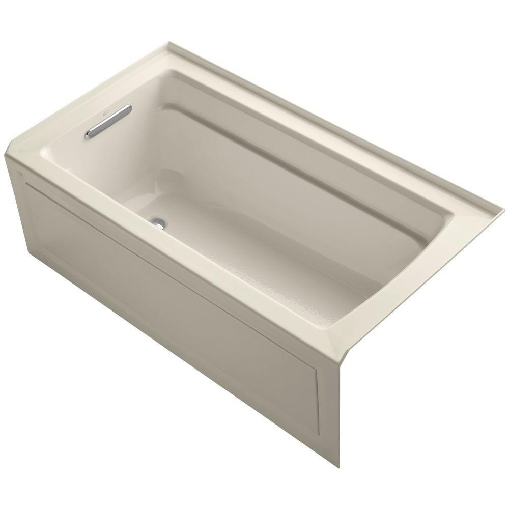 Archer 5 Feet Bathtub in Almond