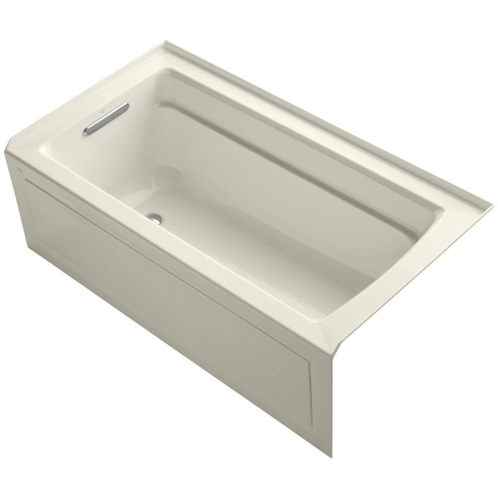 Archer 5 Feet Bathtub in Biscuit