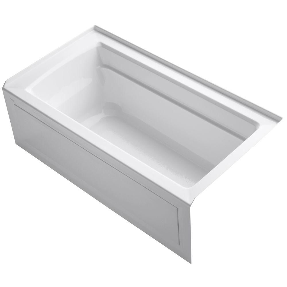Archer 5 Foot Bath in White K-1123-RA-0 Canada Discount
