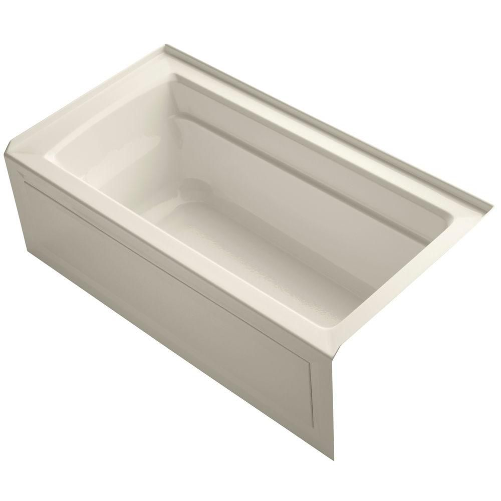 Archer 5 Feet Bathtub in Almond