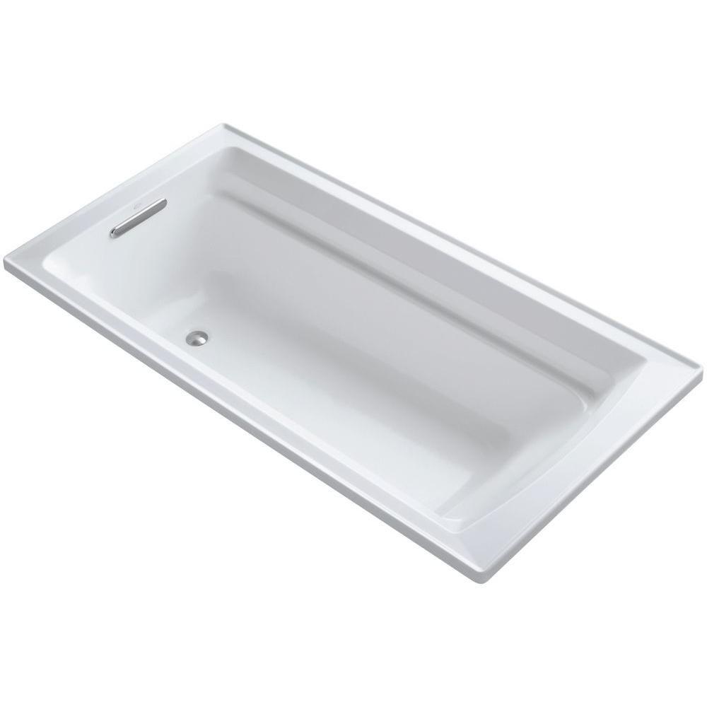 KOHLER Archer 6 ft. Reversible Drain Acrylic Soaking Tub in White