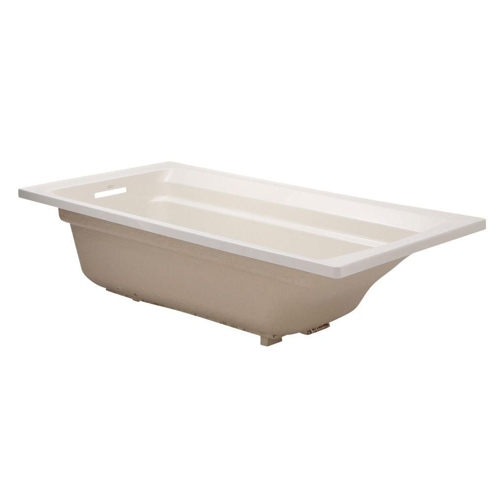 KOHLER Archer 6 ft. Reversible Drain Acrylic Soaking Tub in Biscuit