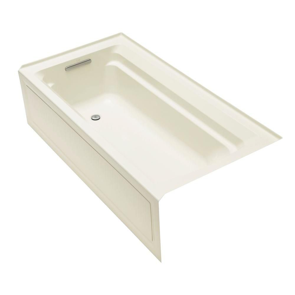 Baignoire de la collection Archer(R), 1,83m (6pi), profondeur Comfort Depth(R), avec tablier in...