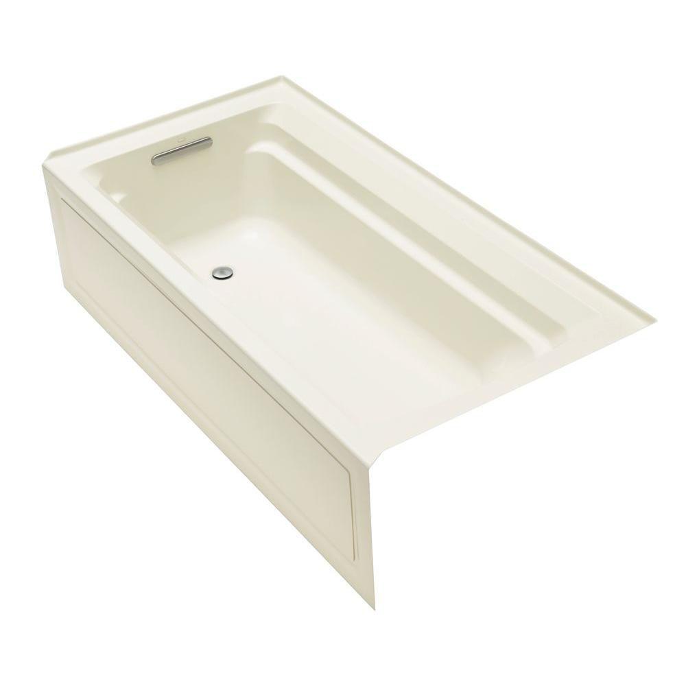 Archer 6 Feet Bathtub in White