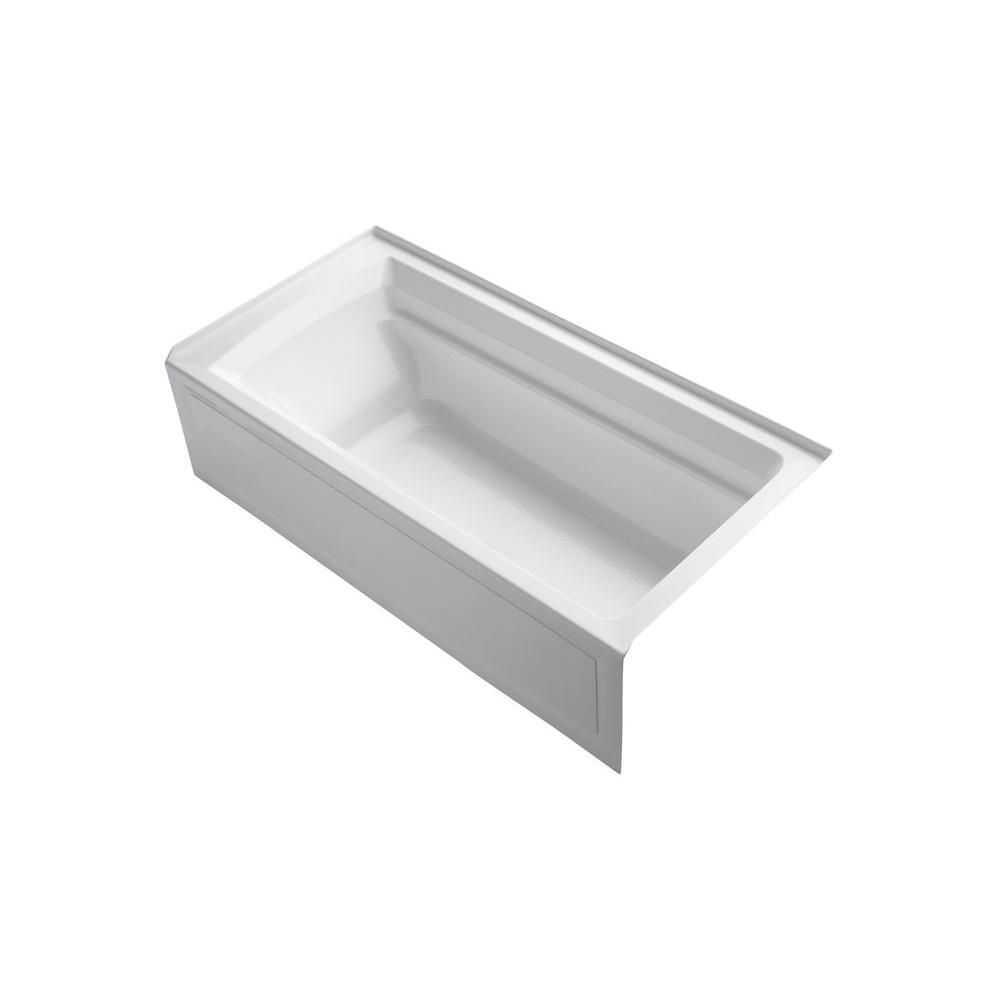 Archer 6 Feet Bathtub in White