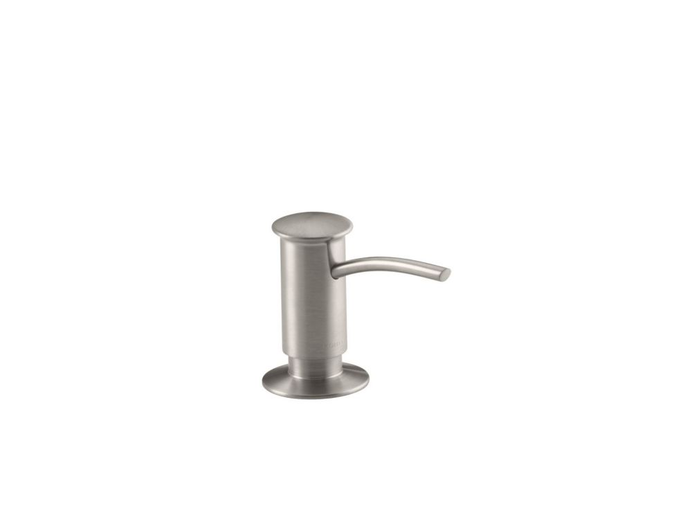 Soap/Lotion Dispenser With Contemporary Design (Clam Shell Packed) in Vibrant Stainless