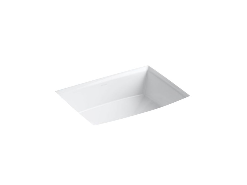 Archer Undercounter Bathroom Sink in White