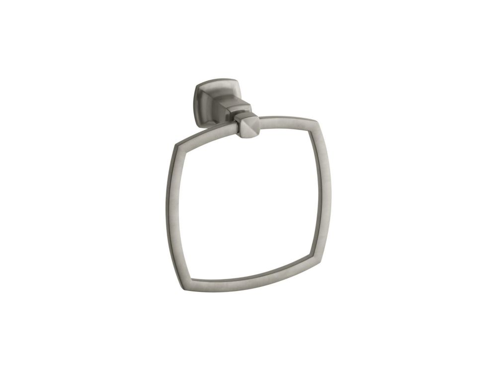 Margaux Towel Ring in Vibrant Brushed Nickel