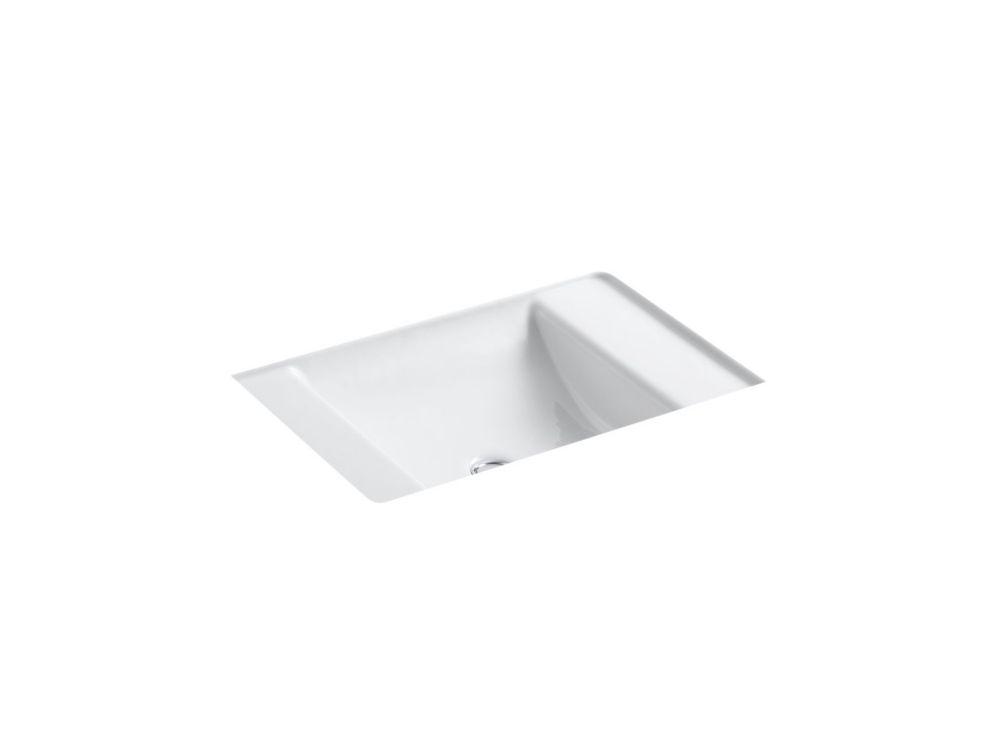 Ledges 21-inch L x 16-inch W Undercounter Bathroom Sink in White