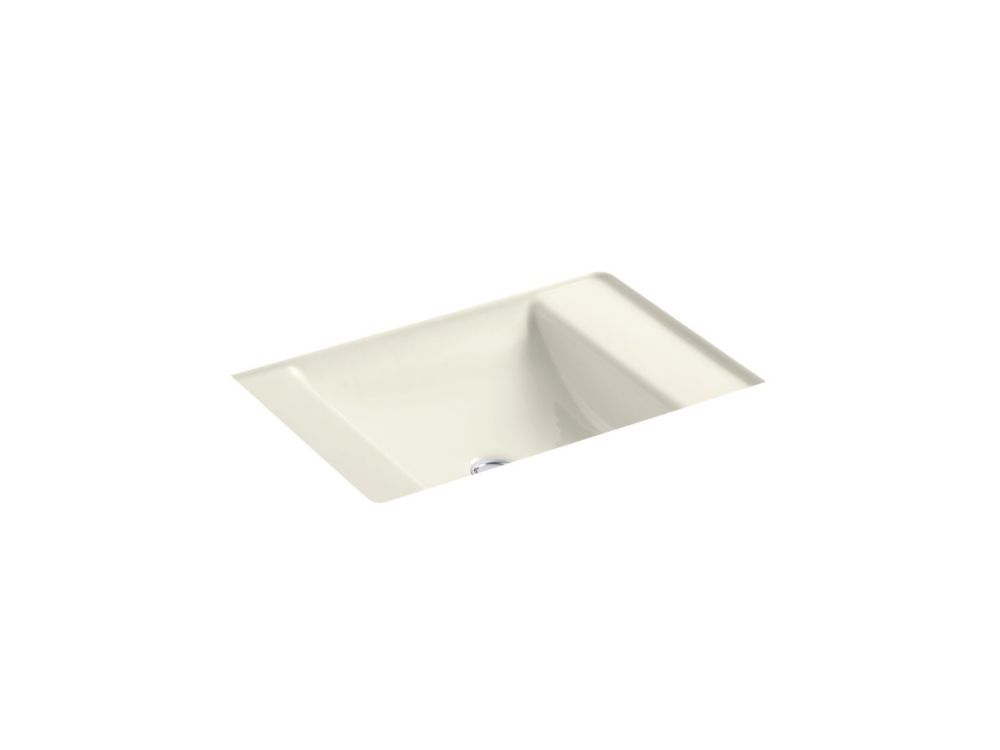 Ledges 21-inch L x 16-inch W Undercounter Bathroom Sink in Biscuit