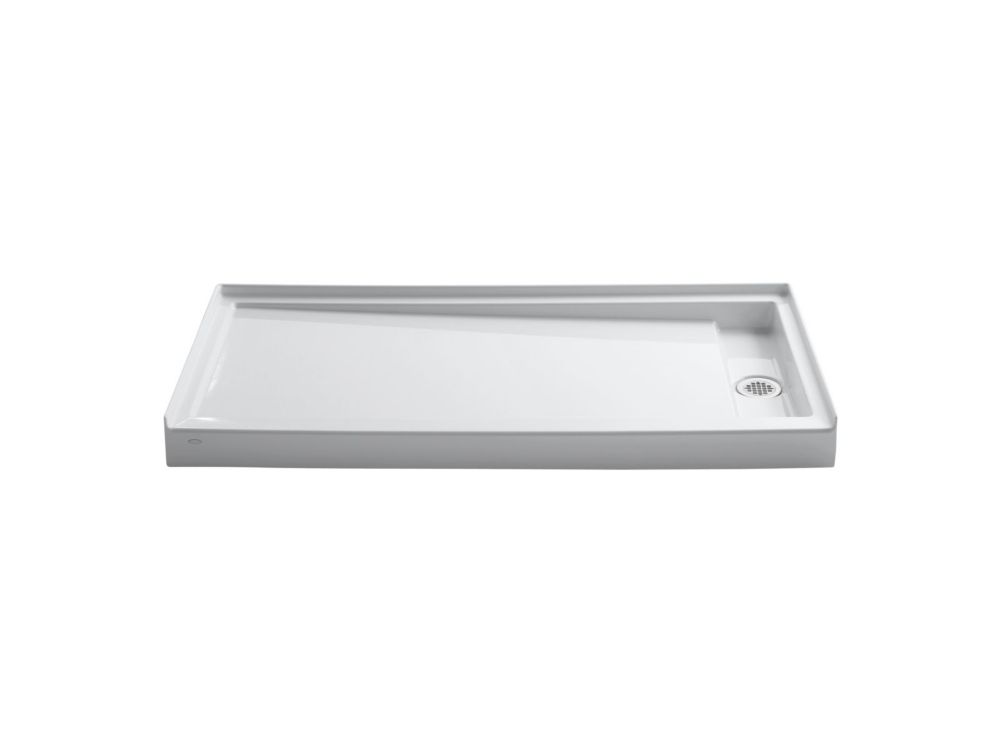 Groove Acrylic Receptor 60 Inch X 32 Inch Right-Hand Drain in White