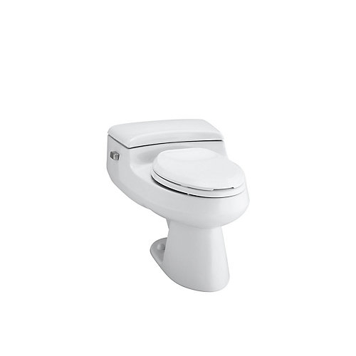 San Raphael Comfort Height 1-piece 3.8 LPF Single Flush Elongated Toilet in White