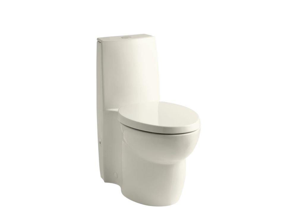 Saile<sup>®</sup> 1-piece 0.8/1.6 GPF Dual Flush Elongated Bowl Toilet in Biscuit