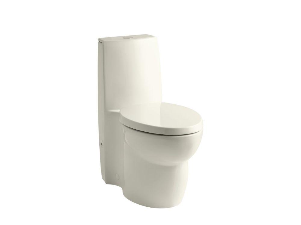 Toilette monobloc allongée Saile(R) avec technologie Dual Flush 1.6 Gal. Allongée, Une pièce