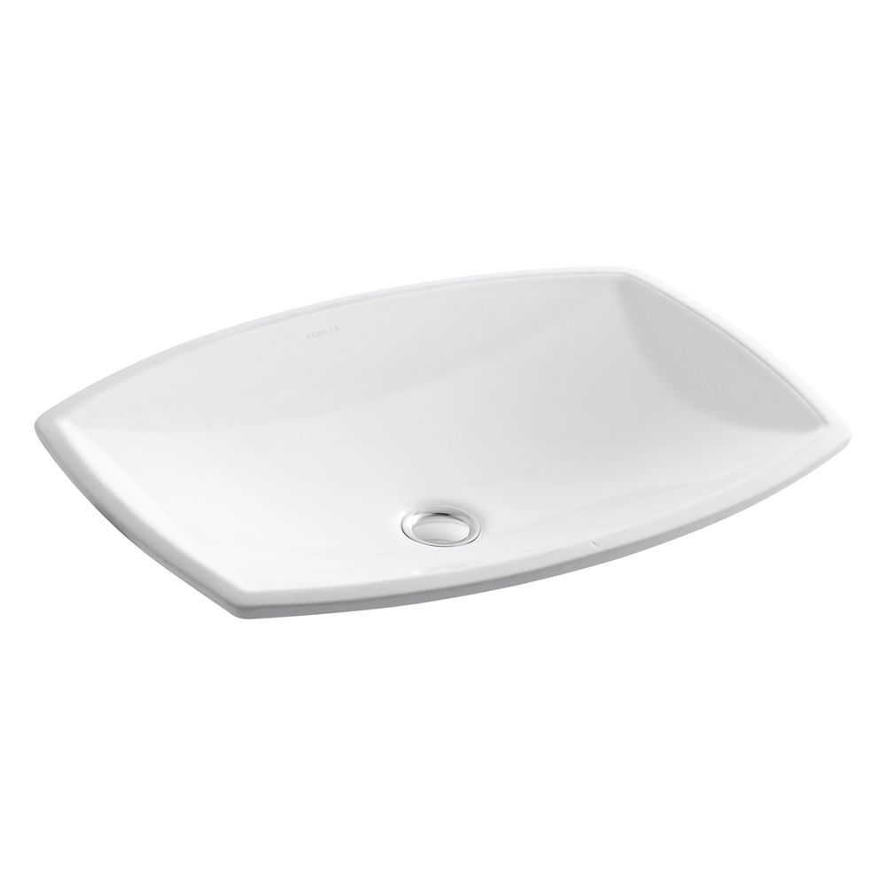 Kelston 19 5/16-inch L x 14-inch W Undercounter Bathroom Sink in White
