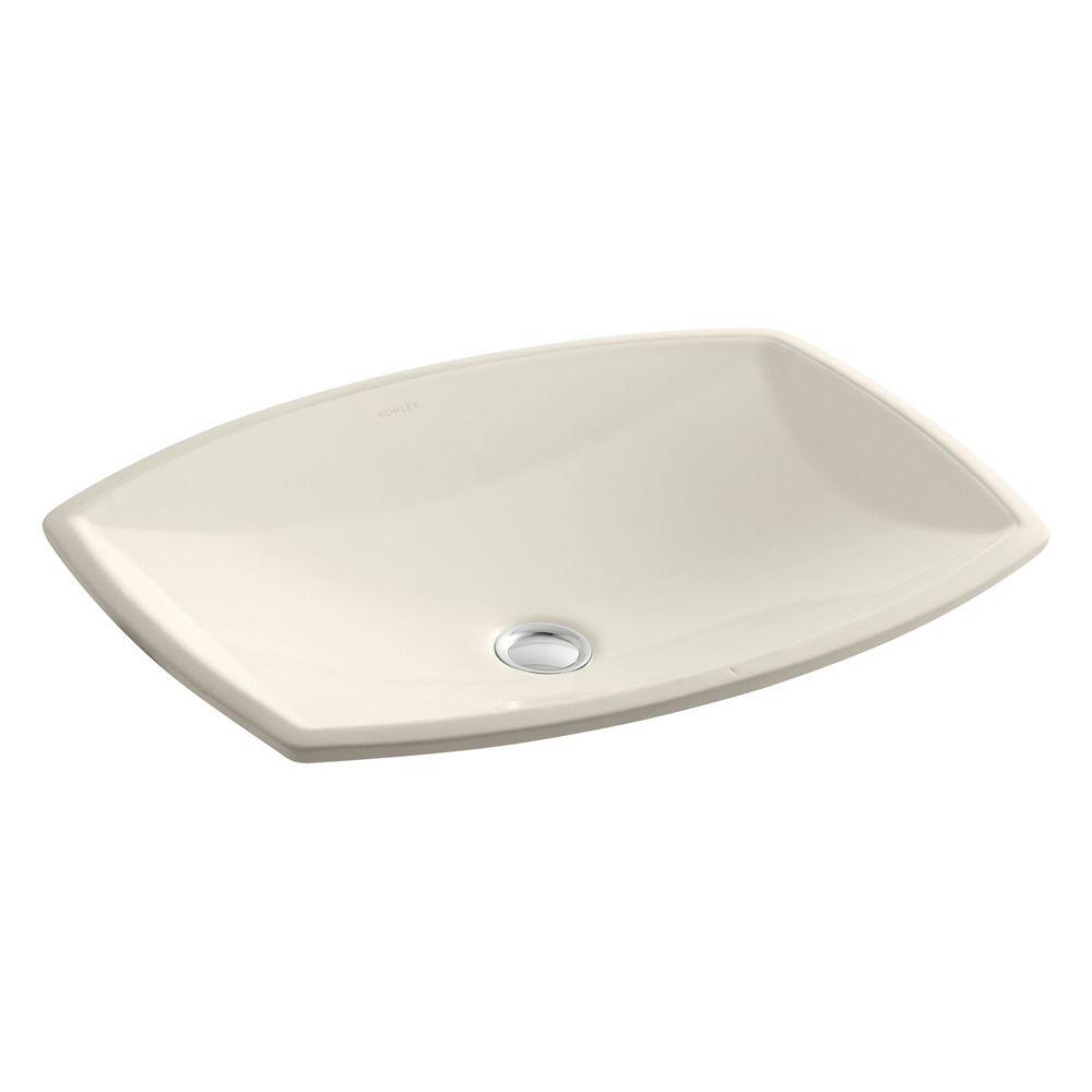Kelston 19 5/16-inch L x 14-inch W Undercounter Bathroom Sink in Almond