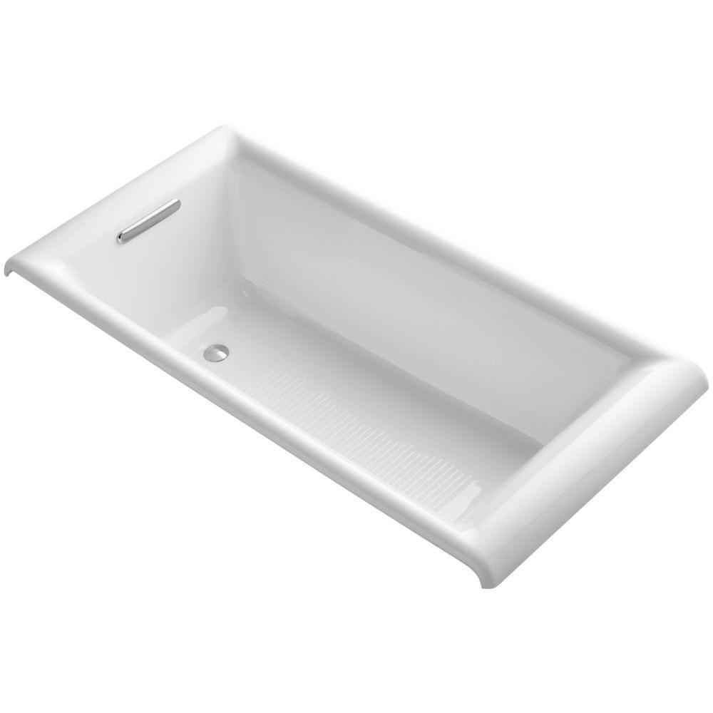 KOHLER Parity 5 Feet 6-Inch Cast Iron Drop-in Non Whirlpool Bathtub in White