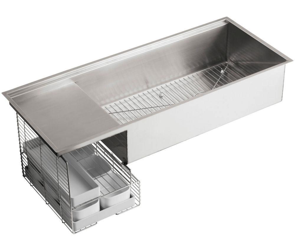 KOHLER Stages(Tm) 45 Inch Stainless Steel Kitchen Sink