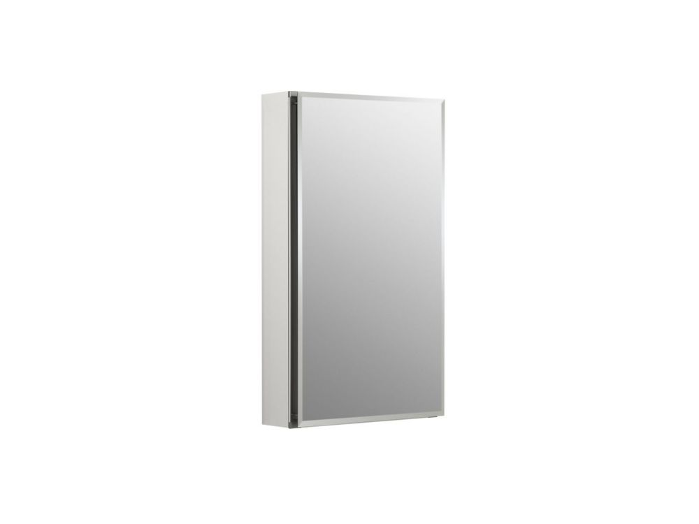 Single Door 15 Inch x 26 Inch x 5 Inch Aluminum Cabinet