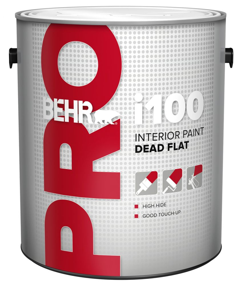 BEHR PRO i100 Series, Interior Paint Dead Flat - White Base, 3.79 L