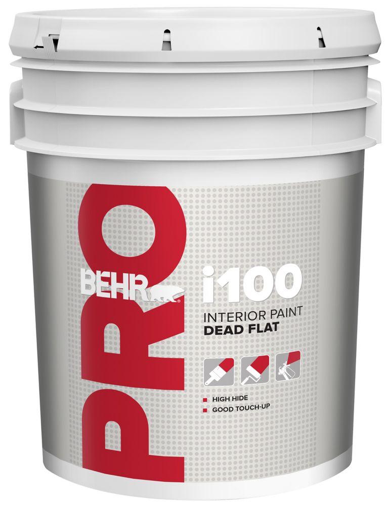 BEHR PRO Série i100, Peinture intérieure mat absolu - Base blanche, 18,96 L