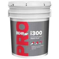 Behr Pro i300 Series, Interior Paint Dead Flat - White Base, 18.96 L