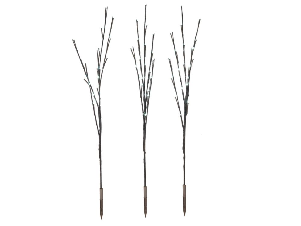 LED 27.5 Inch White Branch Stakes