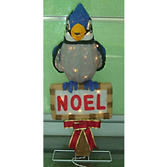 28 -inch Tinsel Blue Jay 50 Clear Lights