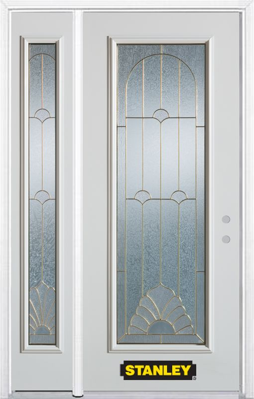 50 in x 82 in full lite pre finished white steel entry for Cheap exterior doors for home