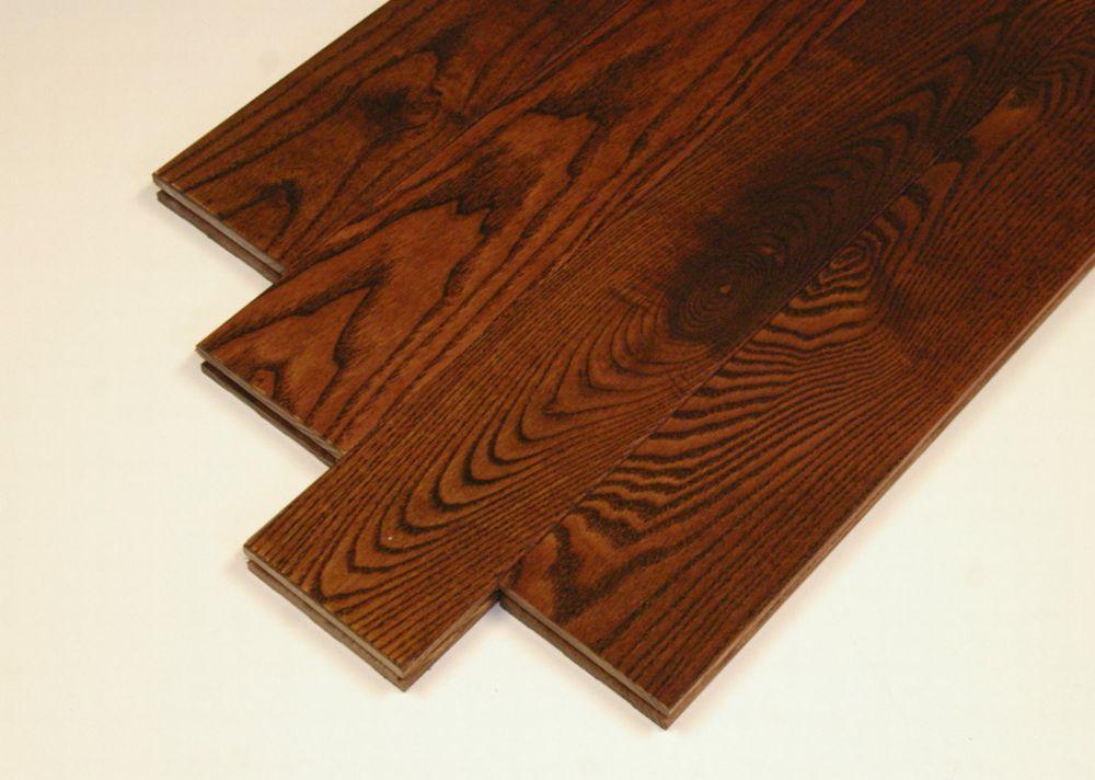 """Plancher de frêne massif 3/4"""" x 3-1/2"""" - Couleur merlot (22.8 1  Pi. carré par caisse)"""