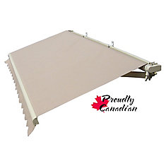 10 ft. Manual Retractable Patio Awning (8 ft. 8-inch Projection) in Solid Beige