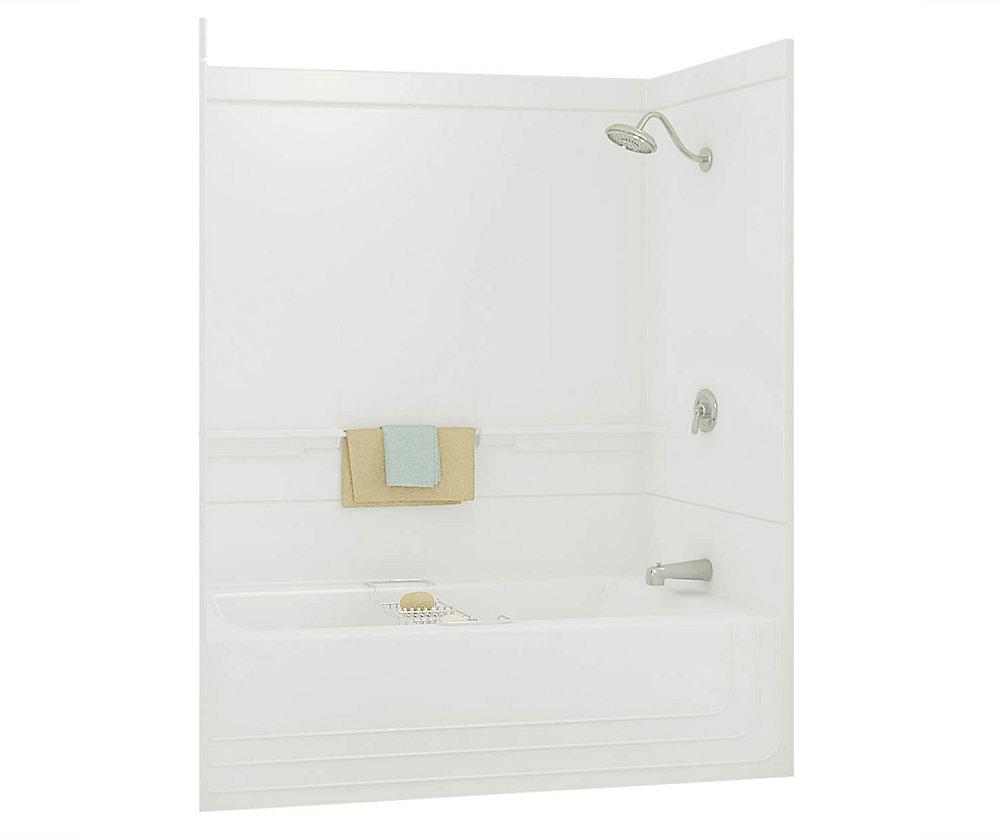 Monaco 59.50-inch x 73.88-inch x 30.75-inch 1-shelf fibreglass 2-Piece Left Hand Drain Tub & Shower
