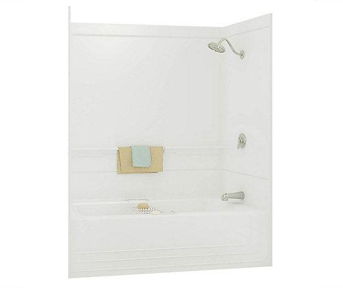 2 piece tub shower. Monaco 2 Piece White fibreglass Tub Shower Right Drain MAAX  The