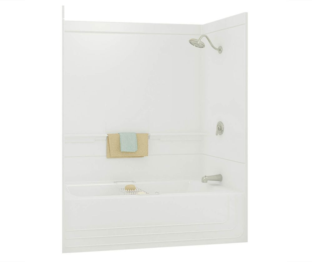 tub angle bathroom recessed combo and material composite combination bathtub shower