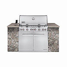 Summit S-660 6-Burner Built-In Propane Gas BBQ in Stainless Steel