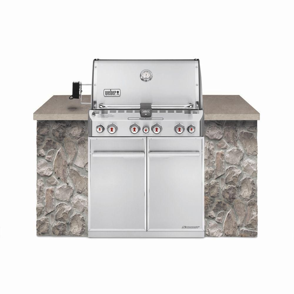 Summit S-460 Built-In Gas Grill Natural Gas Barbecue