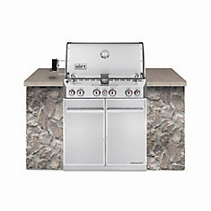 Summit S-460 4-Burner Built-In Liquid Propane BBQ in Stainless Steel