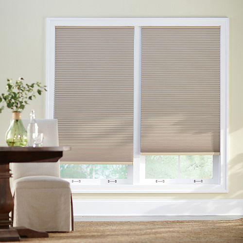 Home Decorators Collection Store alvéolaire obscurité totale sans cordon sahara 68,58 cm L x 1,21 m H