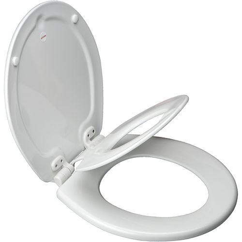 Bemis Next Step Round Toilet Seat with Whisper Close and Easy Clean & Change Hinge