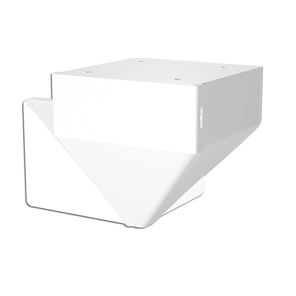 RailBlazers Corner Fascia Mount Bracket - White