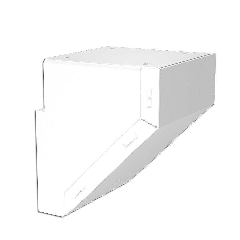 RailBlazers Mid/End/Stair Fascia Mount Bracket - White