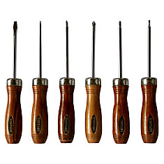 Vintage 6 Piece Screwdriver Set with Wood Case