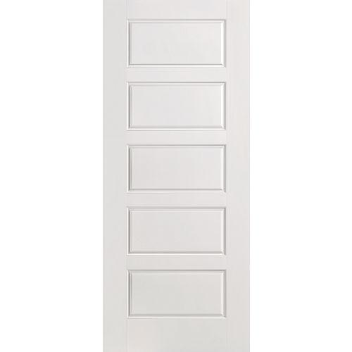 Masonite 32-inch x 80-inch Primed Smooth 5 Panel Equal Interior Door Slab