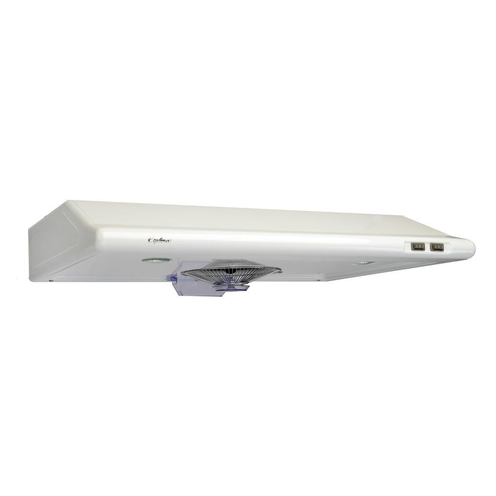 Cyclone 30-inch Undermount Range Hood with Rectangular Ducting in White