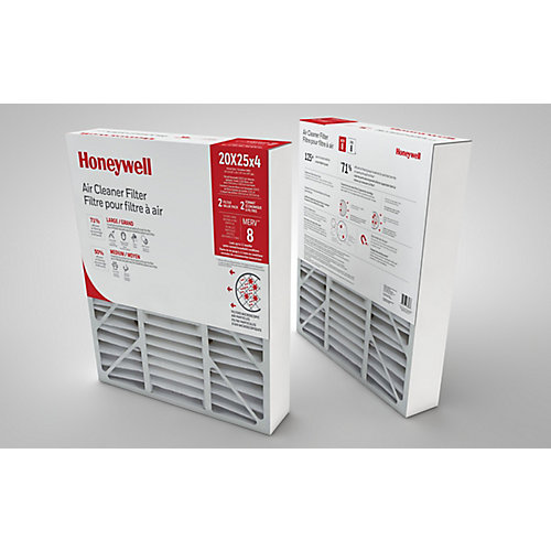 Air Cleaner Filter 20x25x4 Inch - (2-Pack)